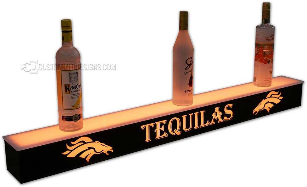 1 Tier Liquor Display w/ Denver Broncos Logo