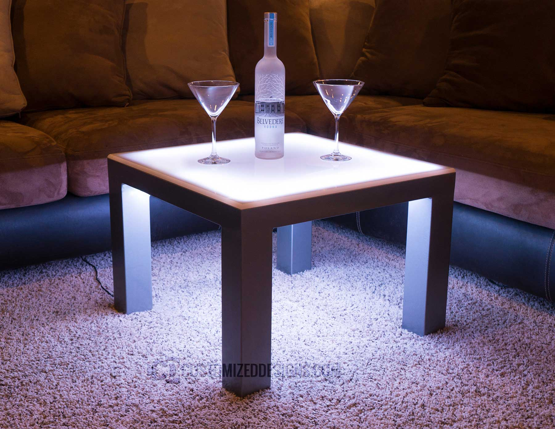 Carbon Series LED Lighted Side Table