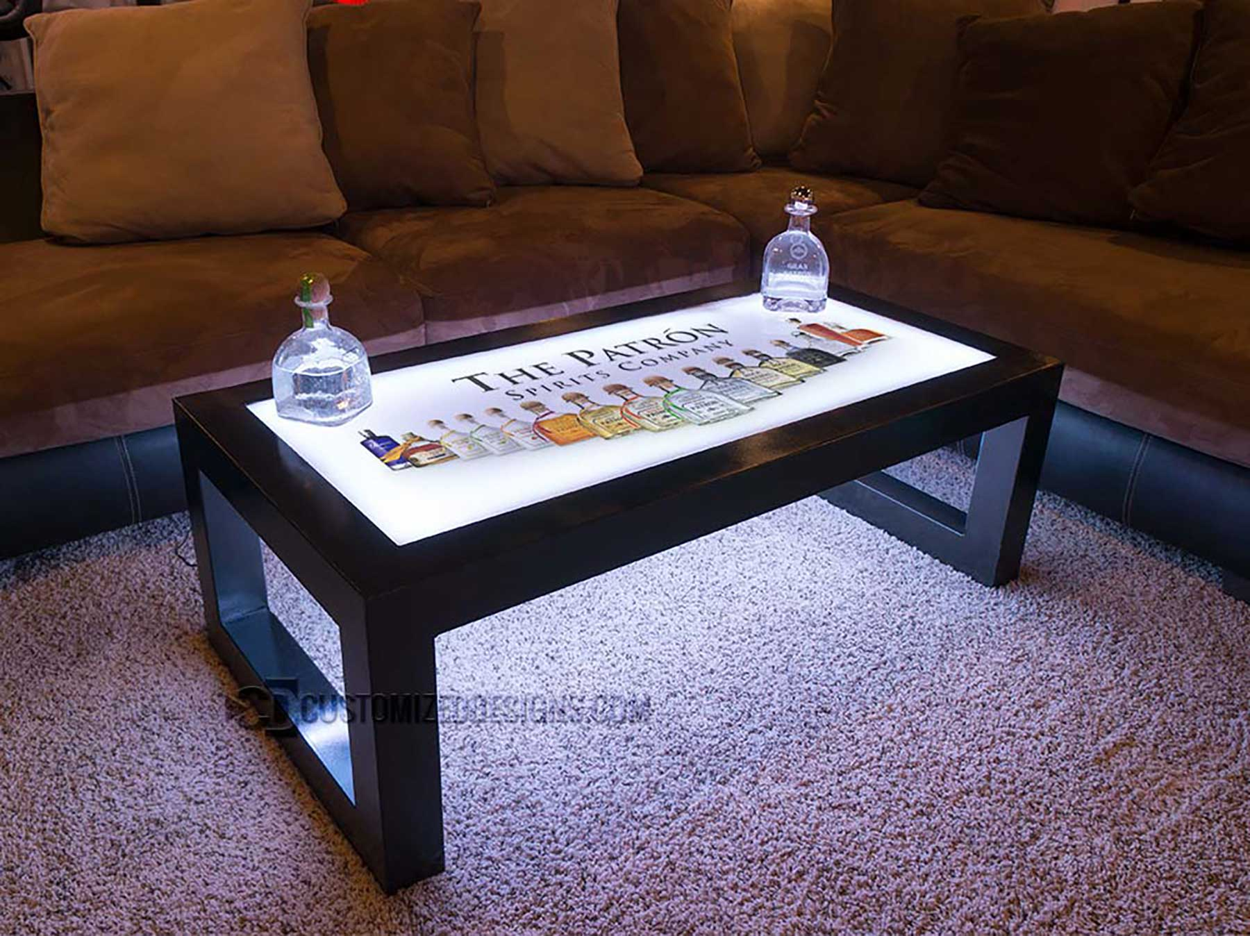 Carbon Series LED Coffee Table w/ Patron Logo