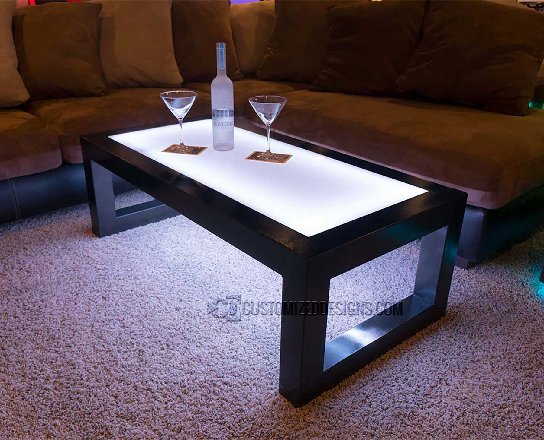 Carbon Series Led Coffee Table Customizeddesigns Com