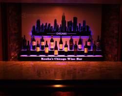 Home Bar Chicago Skyline