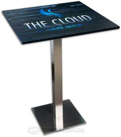 Branded Table w/ Square Urban Series Base - Bar Height