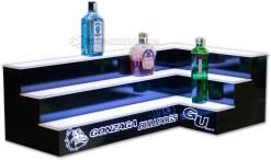 3 Tier Corner Bar Shelving w/ Two Sided Logo
