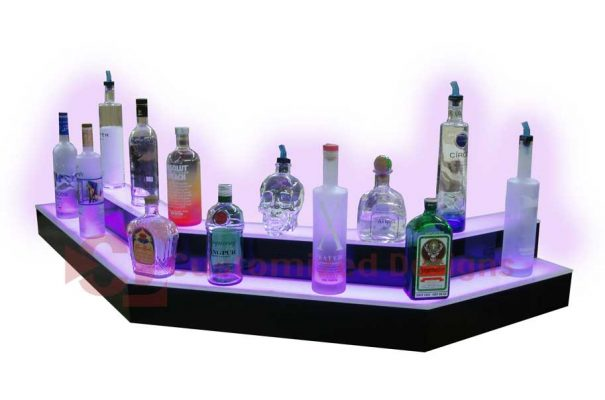 Custom 2 Step Corner Liquor Shelves