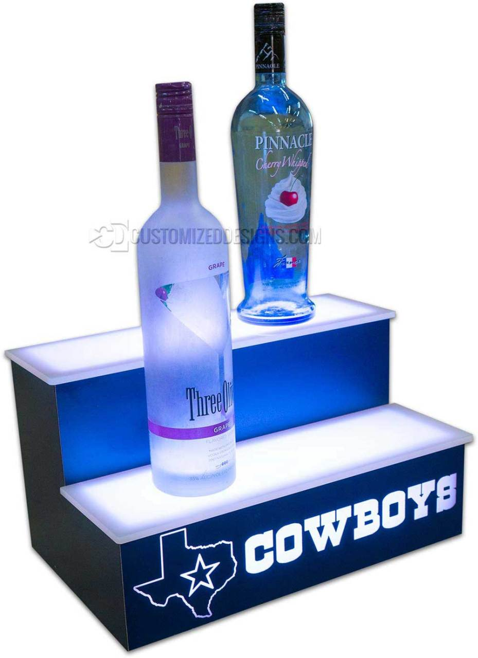 Dallas Cowboys 2 Tier Back Bar Display