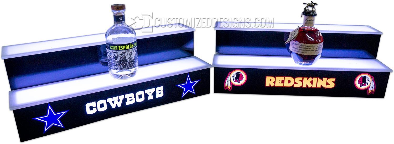 Cowboys & Redskins Home Bar Shelves
