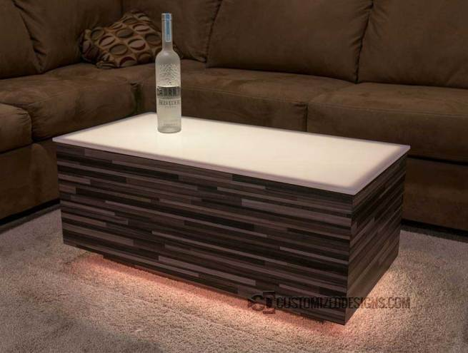 Cubix LED Nightclub Table with Modern Edge Finish