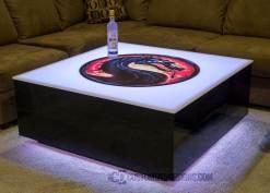 LED Coffee Table w/ Mortal Kombat Logo