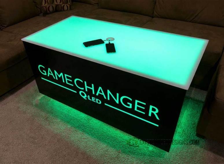 Cubix 48x24 LED Lighted Bar Table