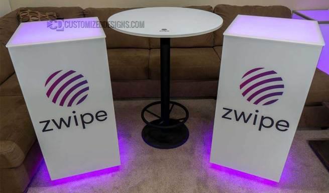 Cubix LED Illuminated Bar Table 2