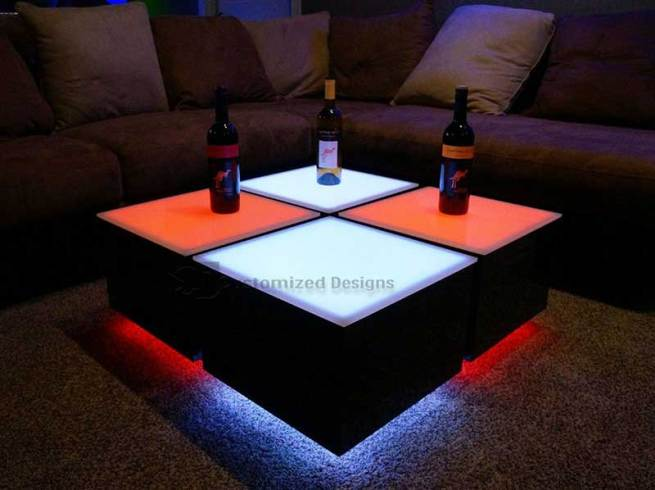 Cubix LED Lighted Tables 5