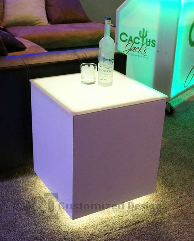 Cubix LED Lighted Tables 4