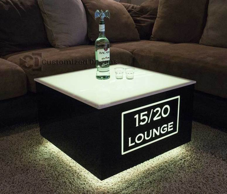 Cubix LED Illuminated Bar Table