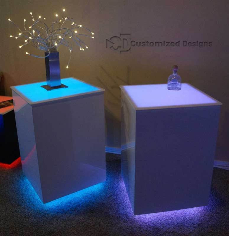 Cubix LED Illuminated Bar Table 5