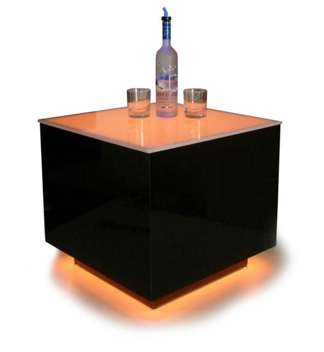 Cubix LED Illuminated Bar Table 6