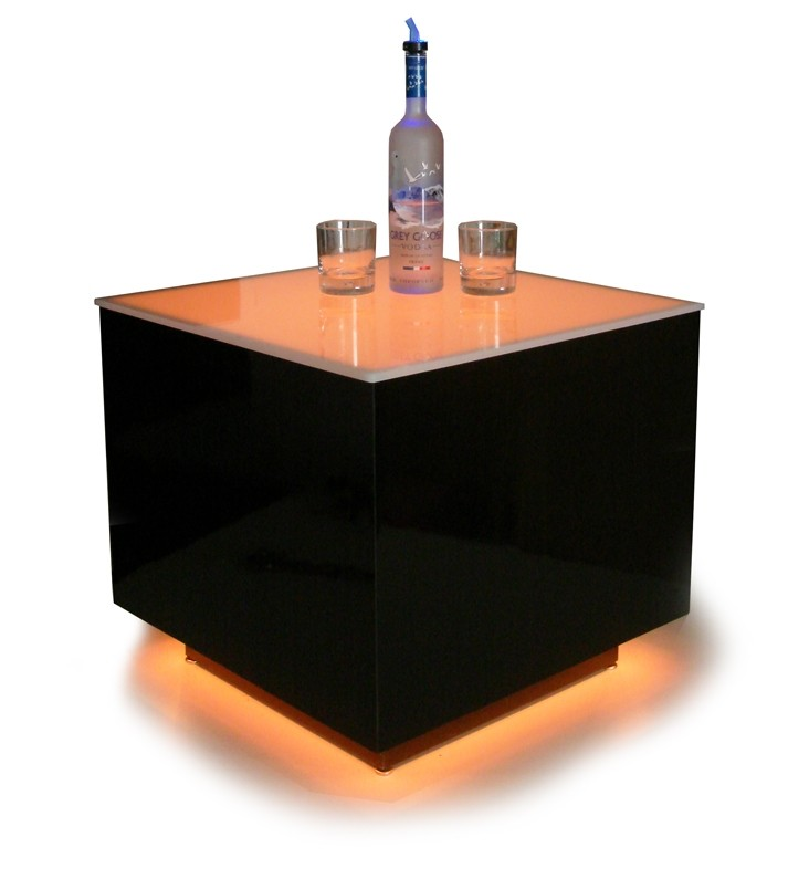 Cubix LED Illuminated Bar Table 6