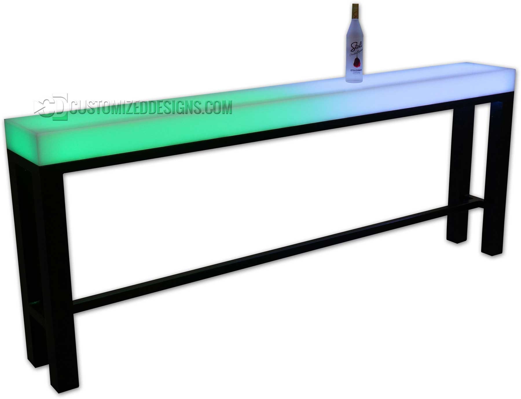 "Custom Aurora Highboy Table - 96"" x 12"" x 36"" H"