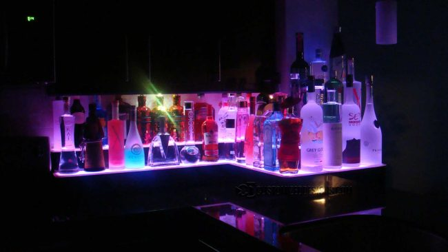 Custom Three Corner Bar Display