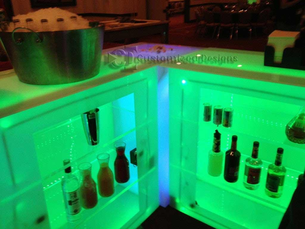 Led Lighted Portable Dance Floor Bar Table Customized Designs