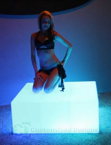 LED Lighted Dance Floor Platform & Portable Bar
