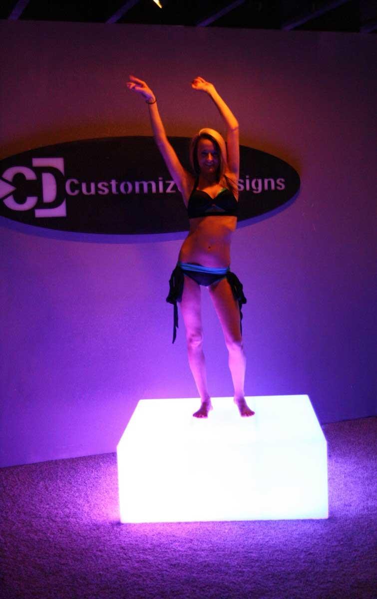 LED Lighted GoGo Dance Platform