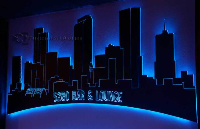 Denver LED Lighted Skyline