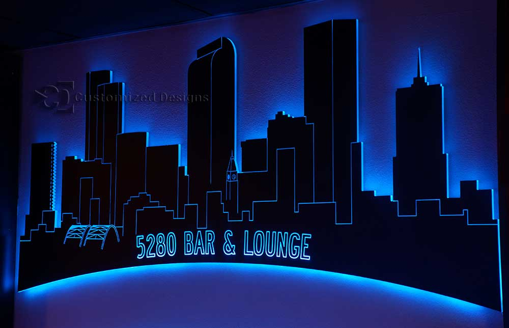 Denver LED Lighted Skyline