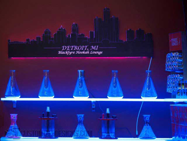 Detroit LED Lighted Skyline