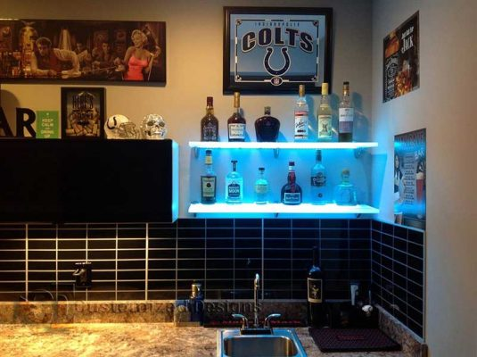 Home Back Bar w/ Lighted Shelving