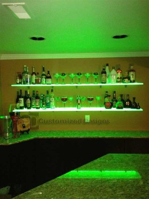 Home Bar Liquor Shelf