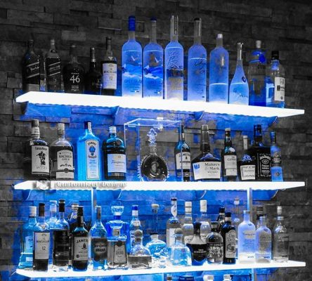 Awesome LED Home Bar Shelving Install