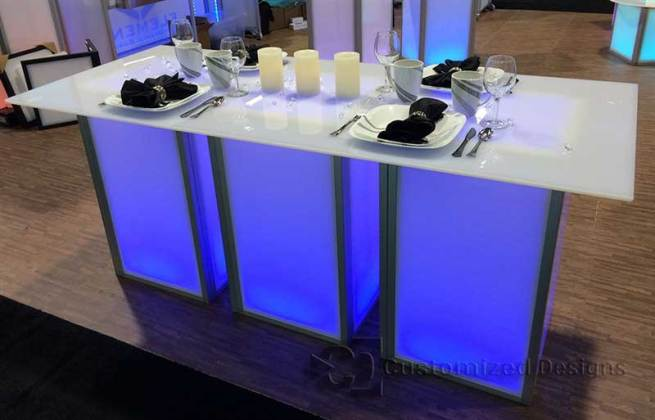LED Lighted Banquet Table
