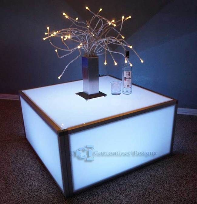 36 x 36 LED Event Lounge Table