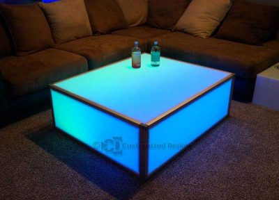 LED Lighted Coffee Table for Events