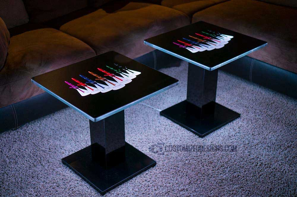 Eclipse Modern Led Lighted Coffee Table Customized Designs