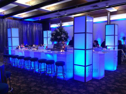 Lighted Event Bar w/ LED Column