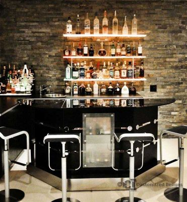 LED Lighted Bar Shelving