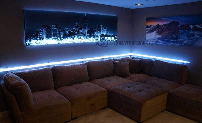 Floating LED Shelves