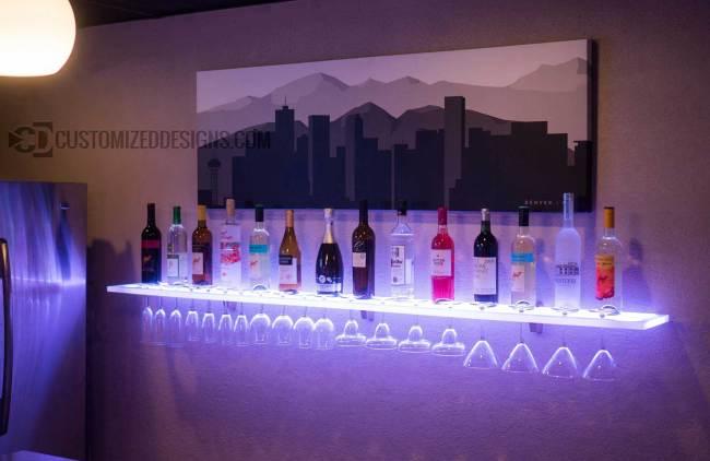 Floating Wine Glass Shelf