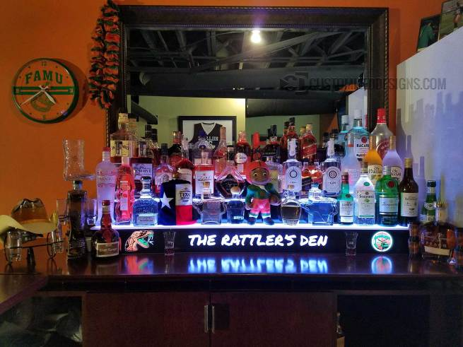 Florida Rattlers Sports Themed Home Bar