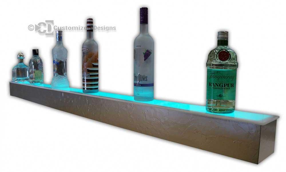 1 Step Bottle Display w/ Frozen Champagne Finish