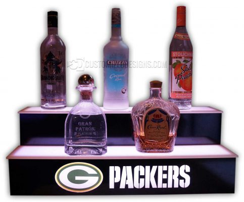 2 STEP LIQUOR DISPLAY W/ GREEN BAY PACKERS LOGO