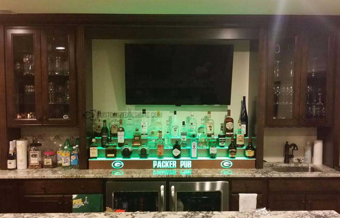 Green Bay Packers Themed Home Bar