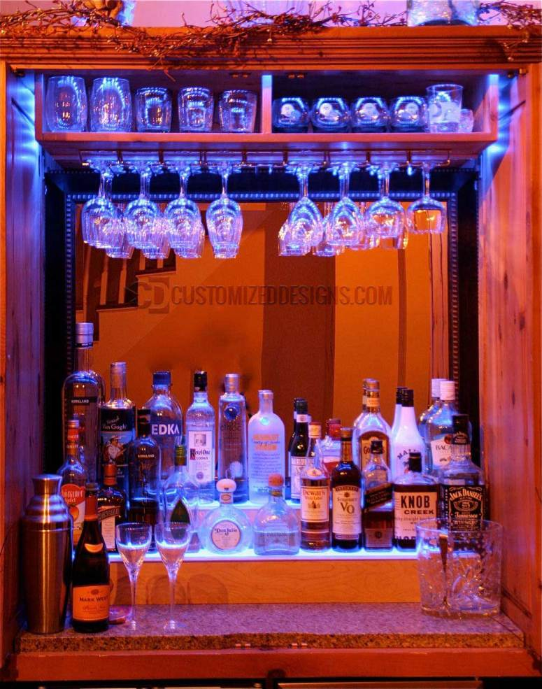 Home Bar Display & Wine Glass Shelving
