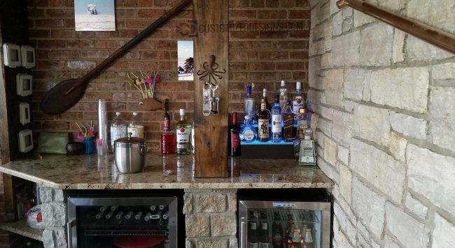 Beach Themed Home Bar