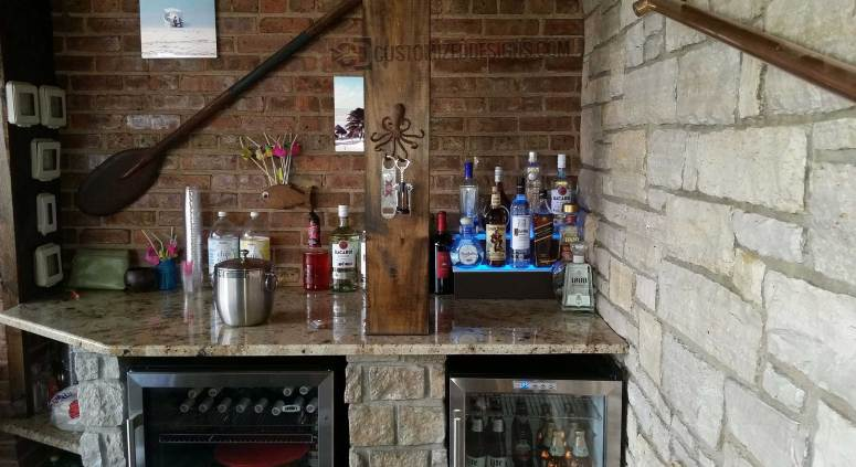 Beach Themed Home Bar