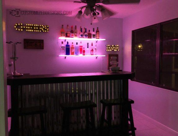 LED Home Bar Shelving 14