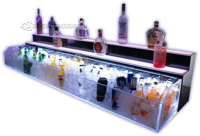 2 Tier Raised Ice & Liquor Display