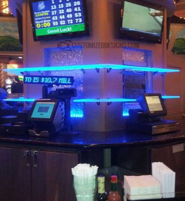 Island LED Bar Shelves