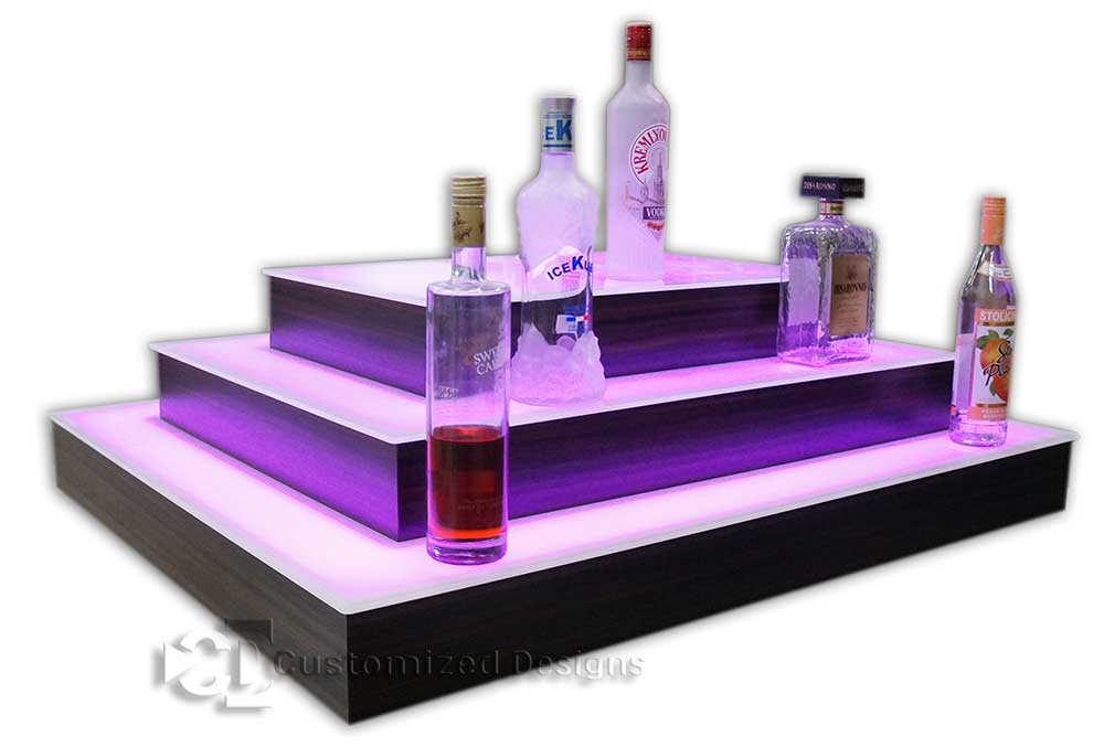 Custom 4 Sided Island Display w/ Large Top Tier